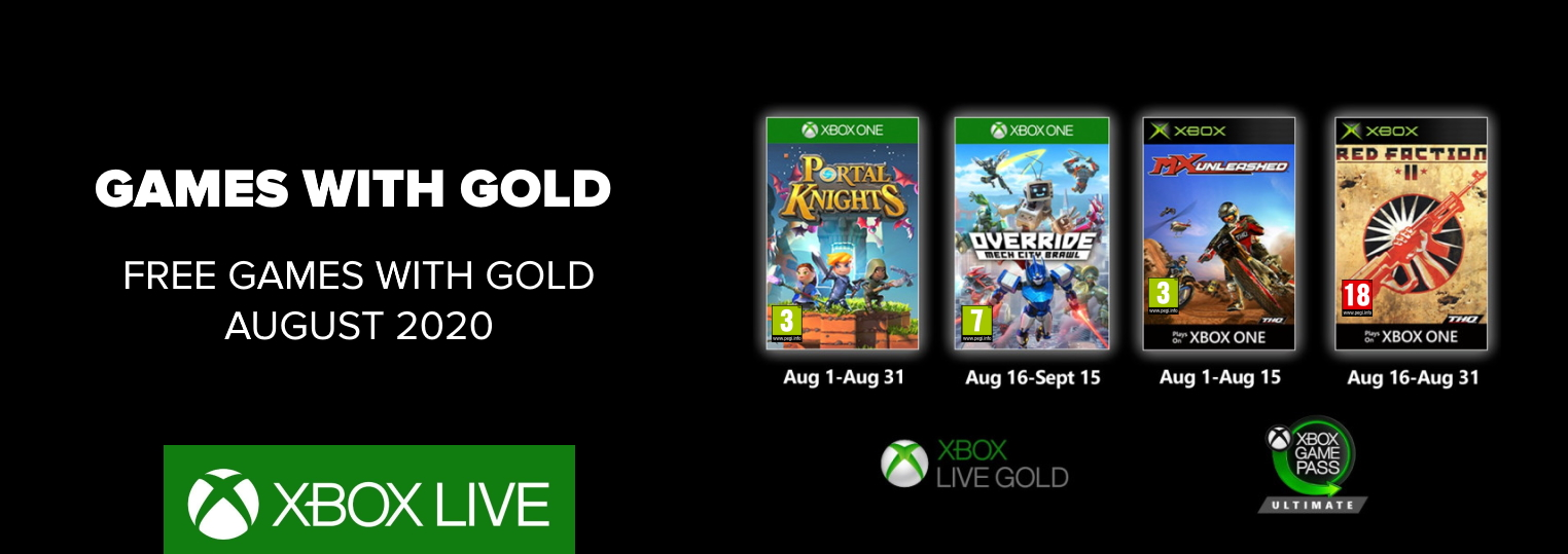 games with gold august 2020,games with gold,games with gold august