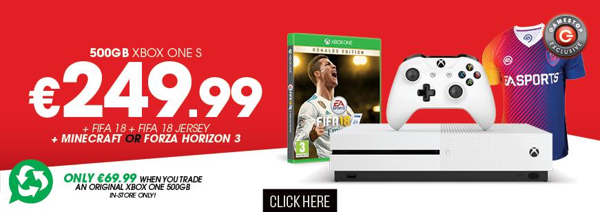 Fifa 18 + Fifa 18 Jersey & 500GB Xbox One Console Trade Deal