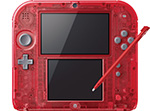 Nintendo 2DS Transparent Red Console