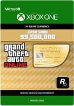 Grand Theft Auto Online: Great Whale Shark Cash Card for Xbox One