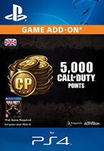 5000 Call Of Duty Points for PS4