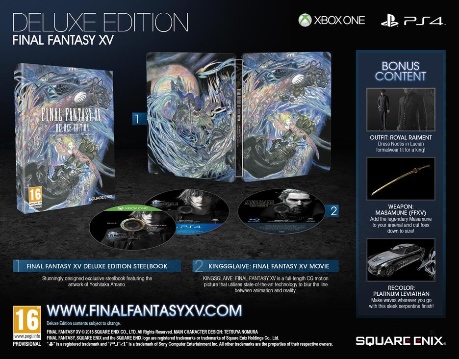 Final Fantasy XV Deluxe Edition GameStop Ireland