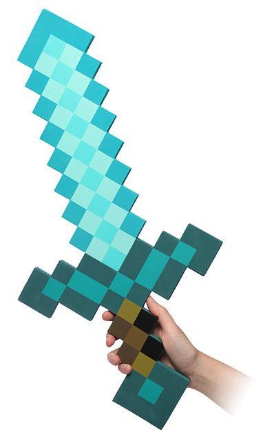 Minecraft: 1/1 Foam Replica Diamond Sword
