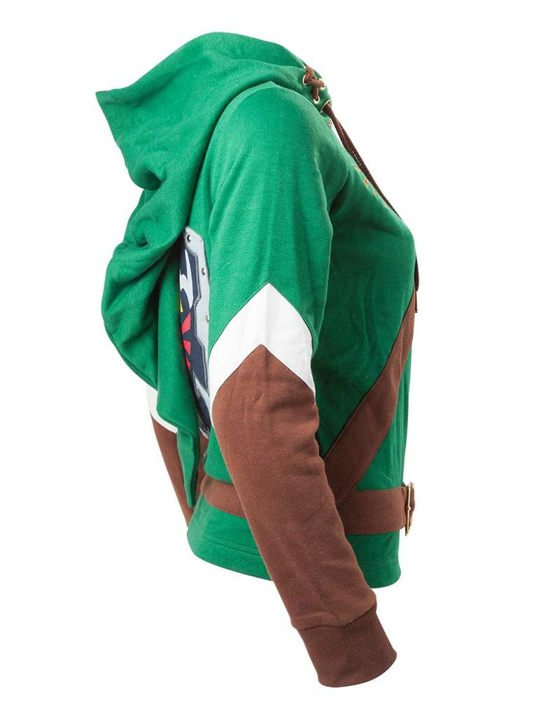 Zelda Link Cosplay Hoodie Gamestop Mesin Nintendo Switch Grey Media