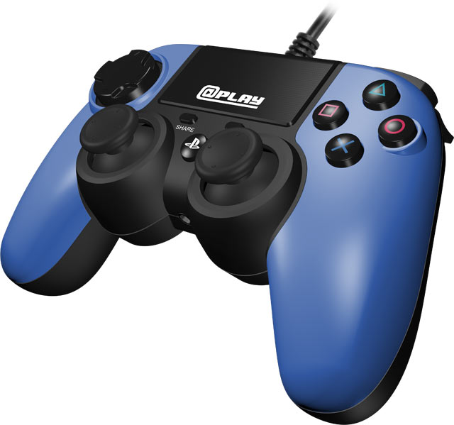 At Play Wired Blue Ps4 Controller Gamestop Ireland