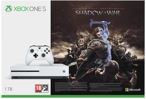 Xbox One S 1TB Console & Middle Earth: Shadow of War