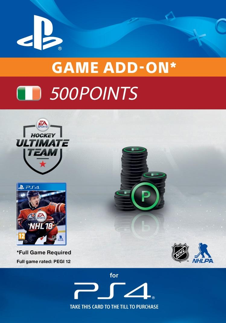 NHL 18: Ultimate Team 500 Points for PS4 [DIGITAL]