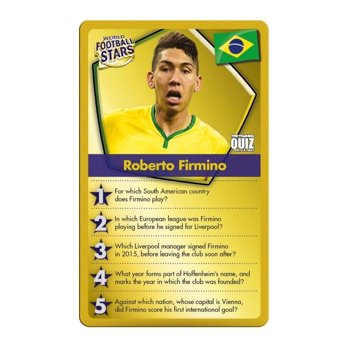 World Football Stars Top Trumps Quiz Game GameStop Ireland