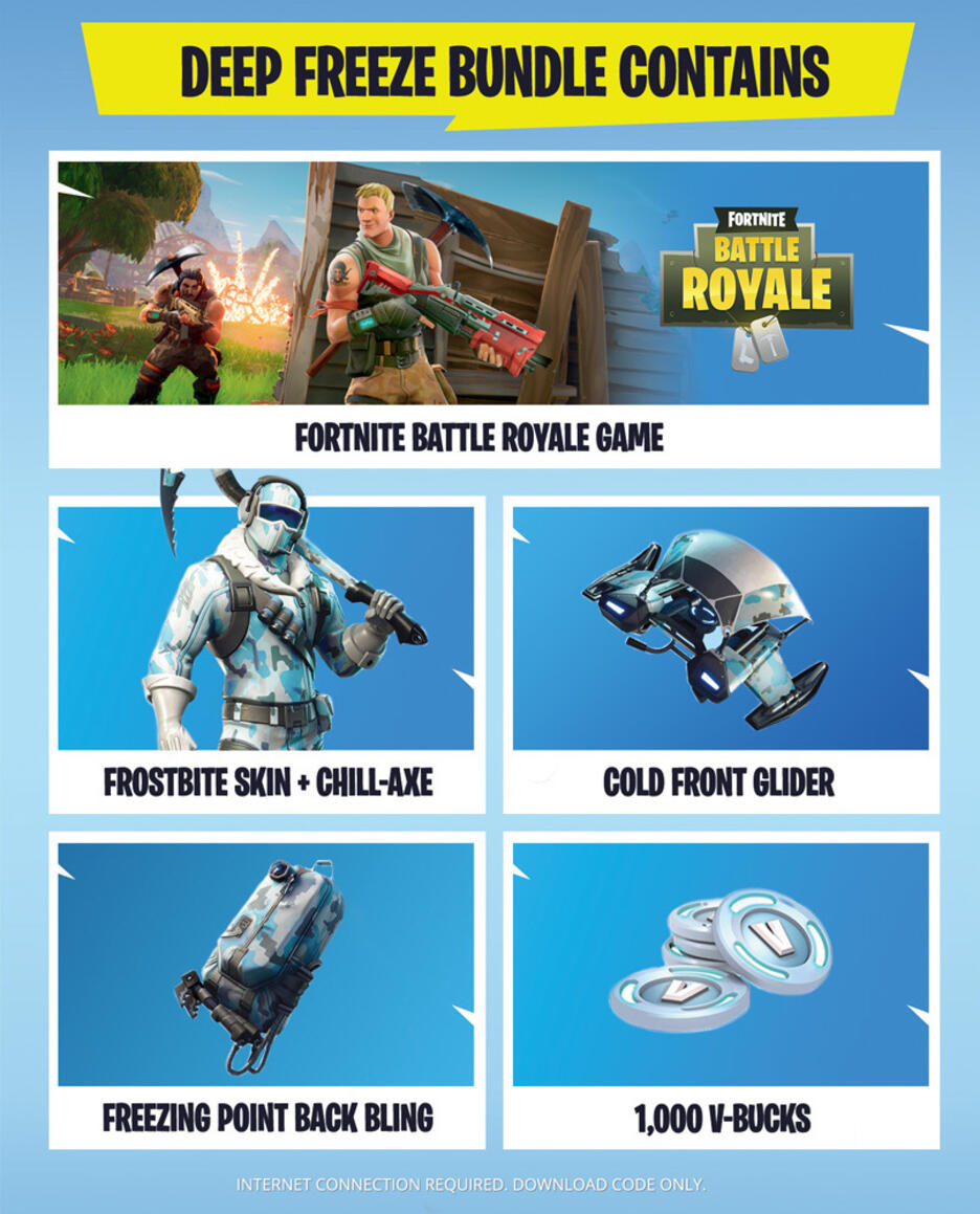 Fortnite Deep Freeze Bundle For Ps4 Gamestop