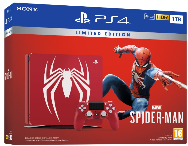 PlayStation 4 Slim 1TB Console + Marvel's Spider-Man