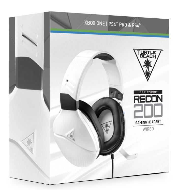 Turtle Beach® Recon 200 Amplified White Gaming Headset GameStop Ireland