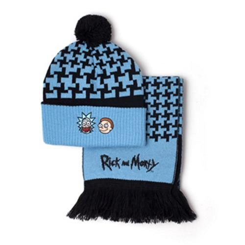 Rick and Morty  Beanie   Scarf Giftset Gamestop 973e5c86a54