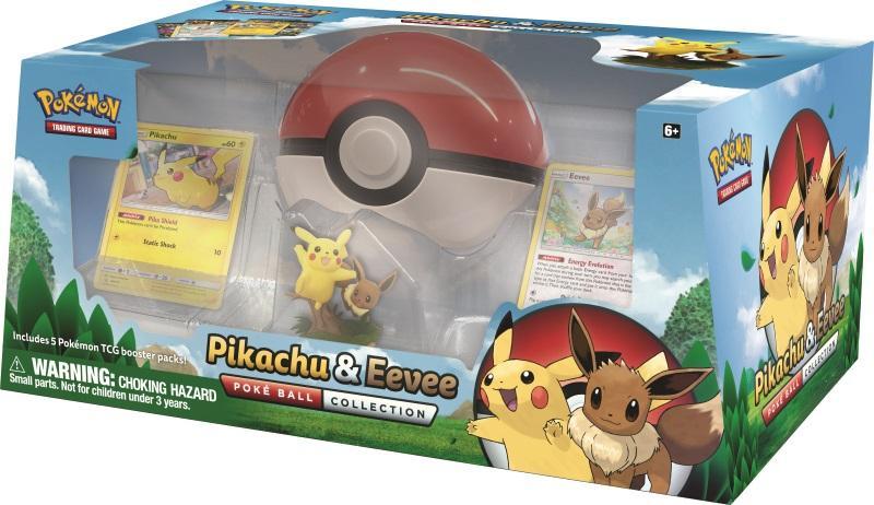 Pokemon Tcg Pikachu Eevee Poke Ball Collection Gamestop