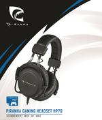 Piranha HP70 Black Gaming Headset