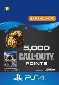 5,000 Call of Duty: Modern Warfare Points - PS4