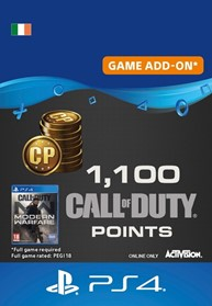 1,100 Call of Duty: Modern Warfare Points - PS4