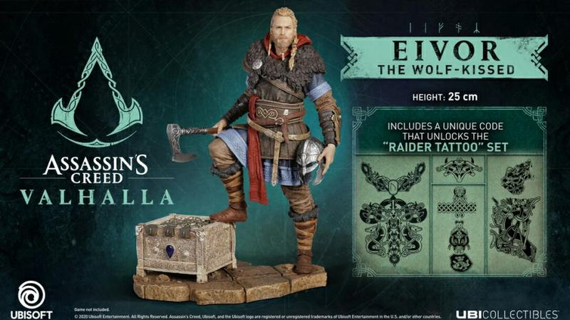 Assassin S Creed Valhalla Eivor The Wolf Kissed Statue Gamestop
